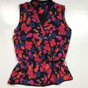 GREYLIN WOMENS SMALL BLOUSE FLORAL TANK TOP
